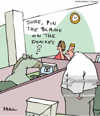 Sure, pin the blame on the donkey.